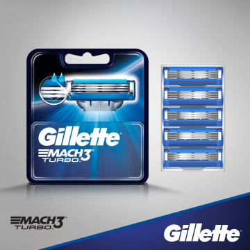 Gillette Mach3 Turbo peiliukai